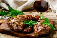 Quebec Lamb Chops marinated in a mixture of fine garden herbs