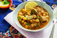 Moroccan soup with veal and lentils