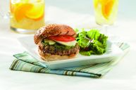 Quebec Veal Burger with Brie and Pesto