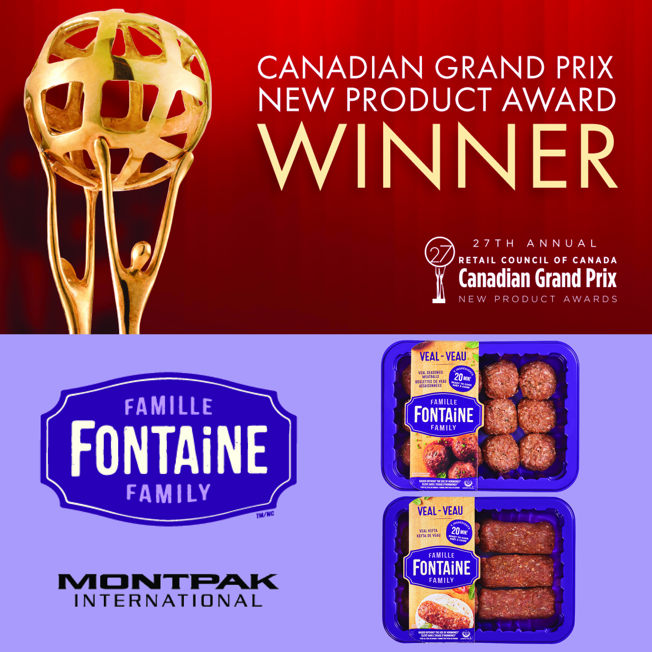 Canadian Grand Prix New Product Award Winner