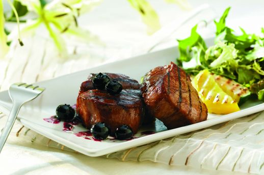 Veal medallion with Blueberry sauce