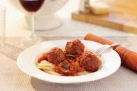 Prepared from trimmings, our fully cooked meatballs are seasoned with fine herbs.